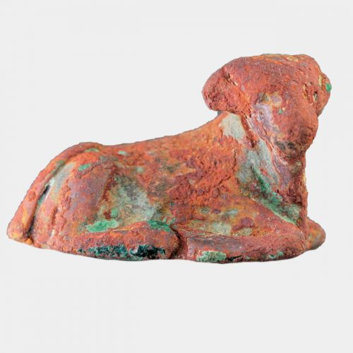 Egyptian Antiquities - Egyptian 18th Dynasty bronze calf-shaped weight