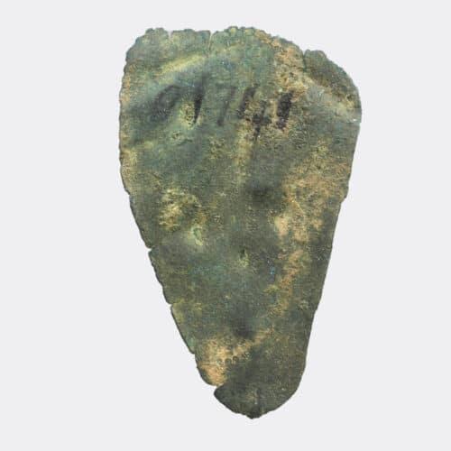 Miscellaneous Antiquities - Urartian bronze stylised head plaque