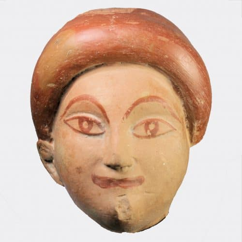 Greek Antiquities - East Greek pottery head fragment