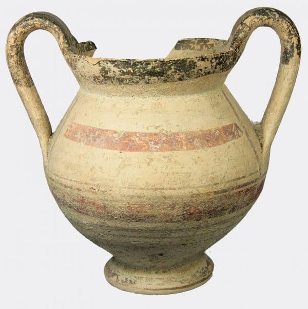 Greek Antiquities - Italic Daunian pottery kantharos