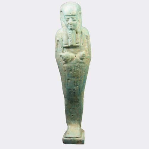 Egyptian Antiquities - Egyptian shabti for the priest Ahmose