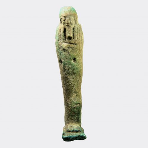 Egyptain Antiquties - Egyptian faience shabti figure