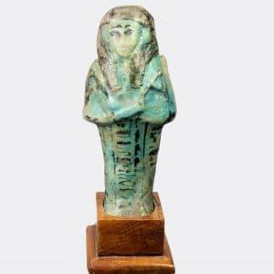 Egyptian Antiquities - Egyptian large shabti of Amenemonet