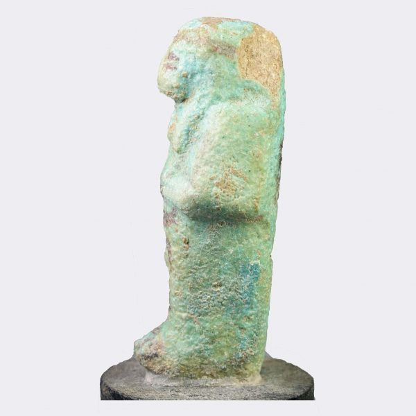 Egyptian Antiquities - Egyptian Third Intermediate Period inscribed shabti