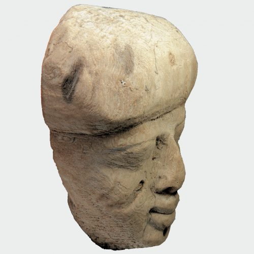 Egyptian Antiquities - Egyptian wood mummy mask