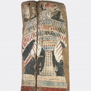 Egyptian Antiquities - Egyptian Hathor and Horus sarcophagus panel