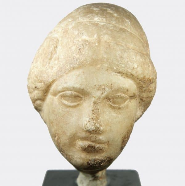 Greek Antiquities - Greek marble head of a woman