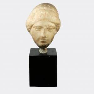 Greek Antiquities - Greek marble head of a woman