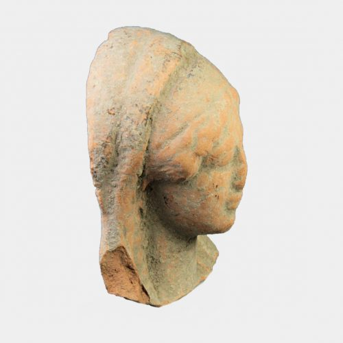 Greek Antiquities - Greek pottery head of a goddess