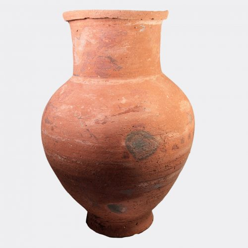Egyptian Antiquities - Egyptian Coptic painted pottery vase