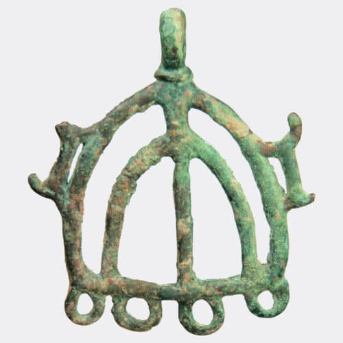 West Asian Antiquities - Luristan bronze pendant with animal decoration