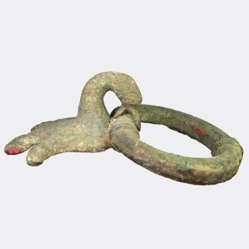 Miscellaneous Antiquities - Etruscan bronze handle with swan terminal