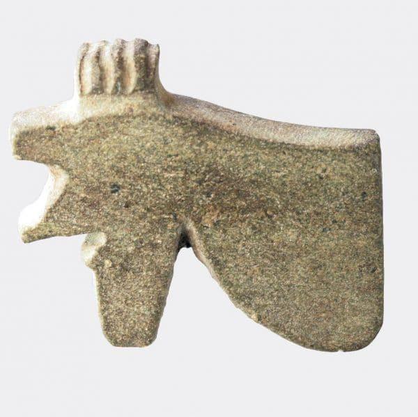 Egyptian Antiquities - Egyptian grey stone Eye of Horus amulet