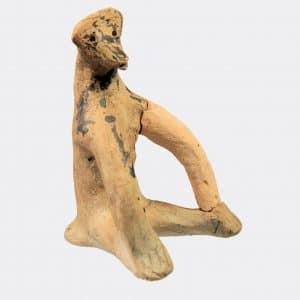 Greek Antiquities - Greek Boeotian pottery monkey