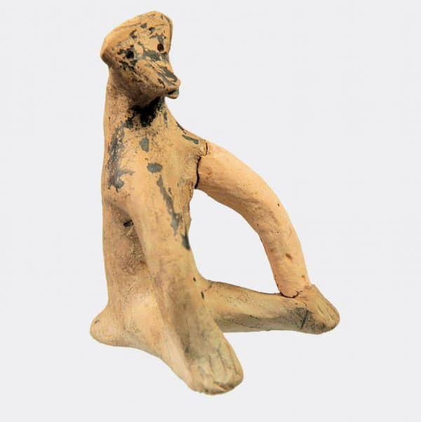 Greek Antiquities - Greek Boeotian pottery monkey