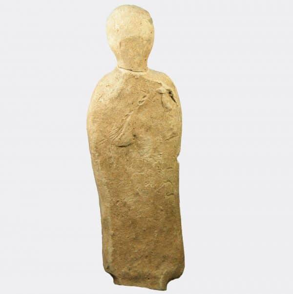 Etruscan votive pottery figure