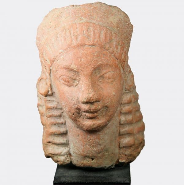 Greek Antiquities - Greek Archaic pottery head