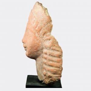 Greek Antiquities - Greek Archaic pottery head