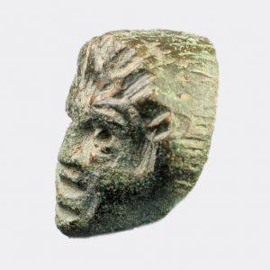 Roman Antiquities - Roman bronze satyr head
