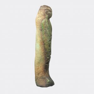 Egyptian Antiquities - Egyptian small faience inscribed shabti