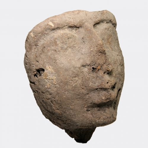 Egyptian Antiquities - Egyptian New Kingdom mud mummy mask