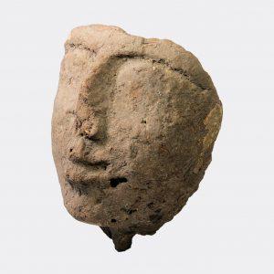Egyptian Antiquities - Egyptian New Kingdom mud mummy mask