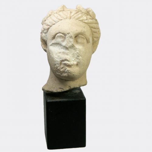 Cypriot Antiquities - Cypriot limestone head of a youth