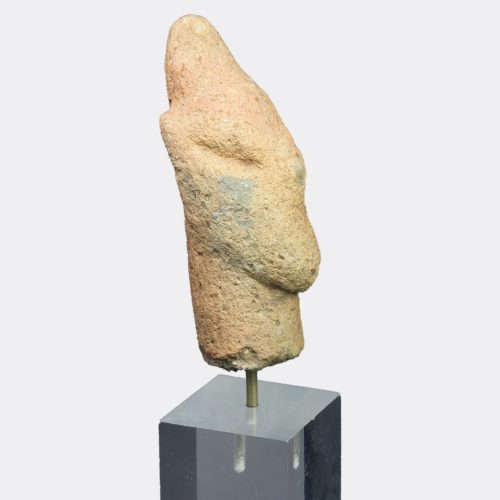 Greek Antiquities - Greek Thessalian Neolithic pottery idol head