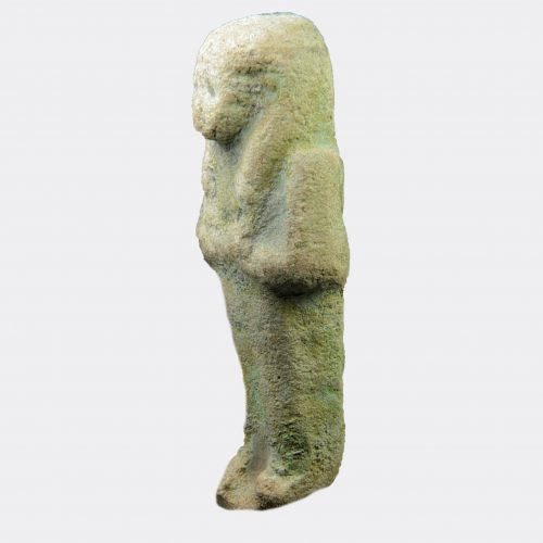Egyptian Antiquities - Egyptian Third Intermediate faience shabti, possibly for Mut