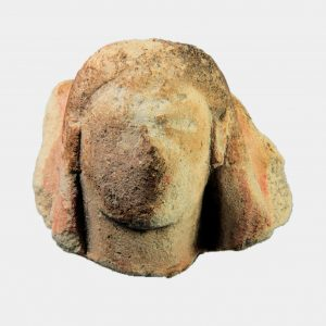 Cypriot Antiquities - Cypriot limestone veiled head