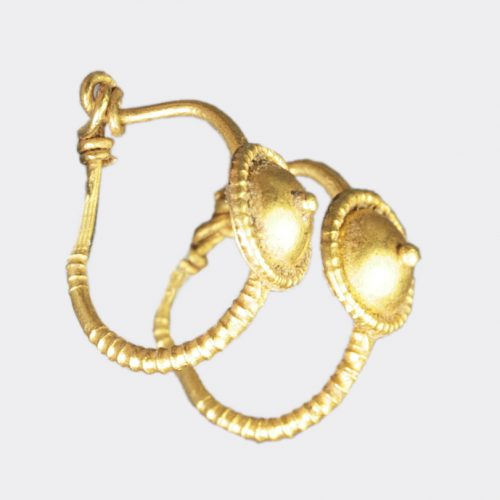 Ancient Jewellery - Roman gold earrings