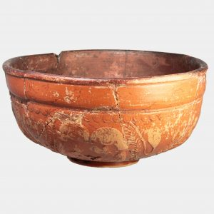 Roman Antiquities - Roman Gaulish Samian Ware decorated pottery bowl