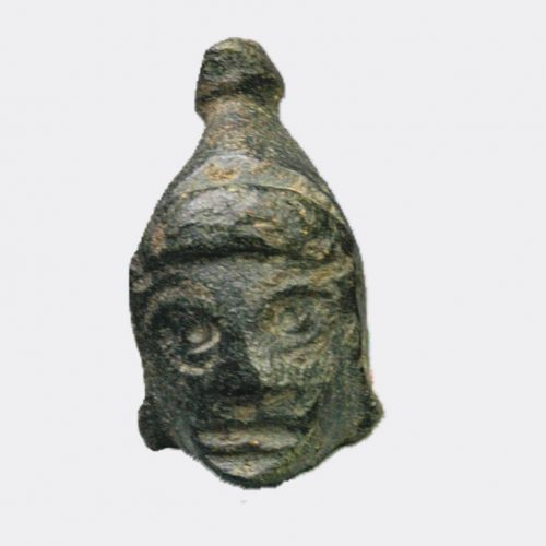 Roman Antiquities - Roman bronze head wearing a Phrygian cap