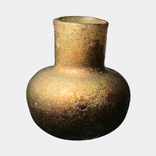 Miscellaneaous Antiquities - Roman thick green glass vase