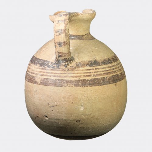Cypriot Antiquities - Cypriot Bichrome Ware jug with pointed base