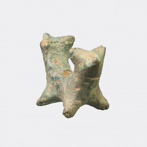 Ancient Near East - North Mesopotamian bronze animal amulet