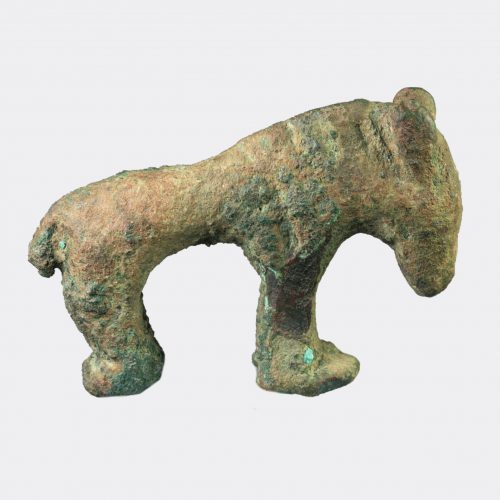 Sassanian Antiquities - Sassanian bronze figure or a horse