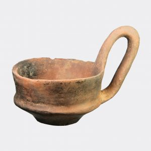Miscellaneous Antiquities - Etruscan impasto ware pottery kyathos cup