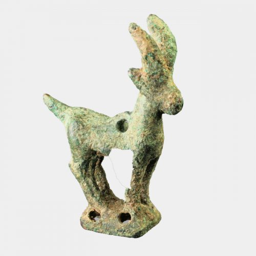 West Asian Antiquities - Parthian bronze amulet in the form of a goat