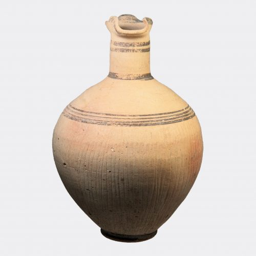 Cypriot Antiquities - Cypriot Iron Age pottery jug with incised body