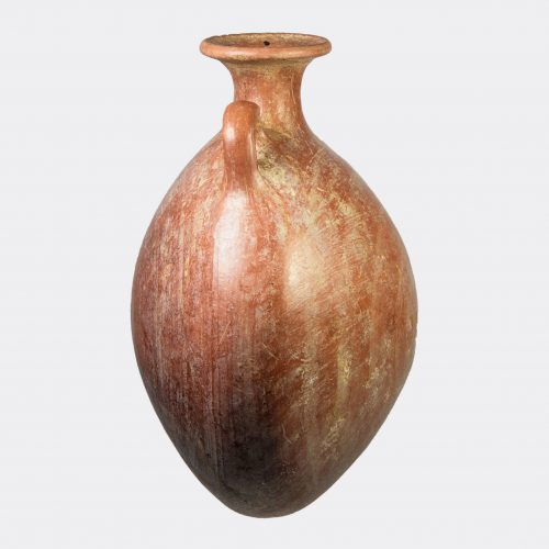 Egyptian Antiquities - Egyptian New Kingdom large pottery pilgrim flask