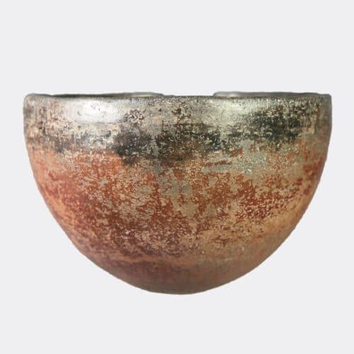 Egyptian Antiquities - Egyptian Pre-Dynastic Naqada II black top pottery bowl