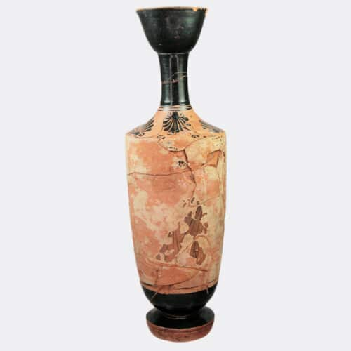 Greek Antiquities - Greek Athenian white ground lekythos, ex. Fitzwilliam Museum