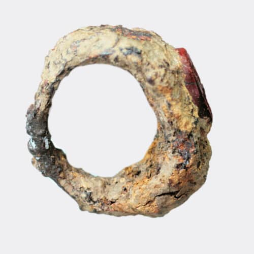 Roman Antiquities - Roman iron ring with a capricorn intaglio, probably legionary