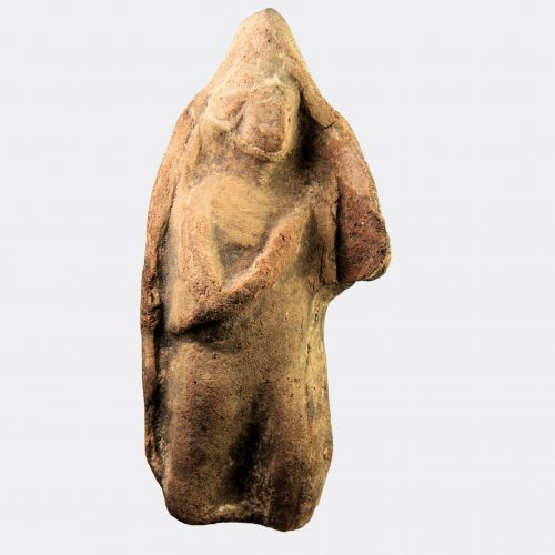 Cypriot Antiquities - Cypriot votive moulded pottery figure plaque