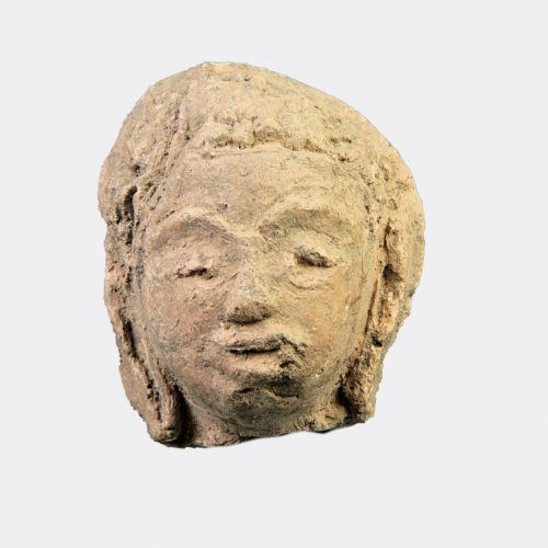 Miscellaneous Antiquities - Indian pottery Buddhist head