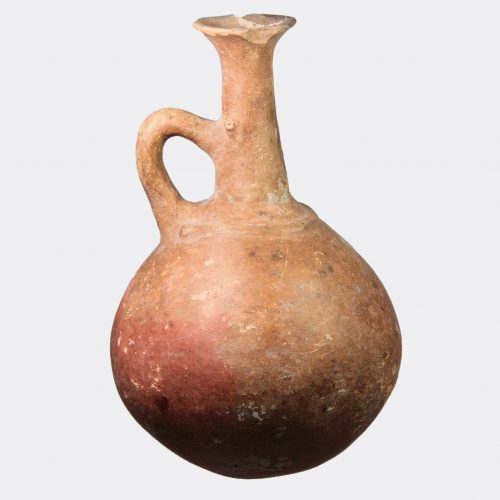 Cypriot Antiquities - Cypriot Bronze Age pottery jug with applied decoration
