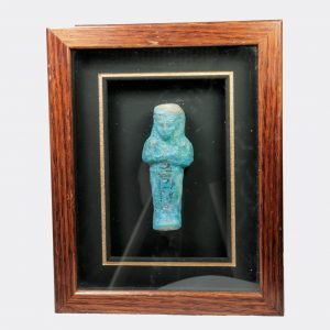 Egyptian Antiquities-Egyptian Third Intermediate Period glazed faience shabti