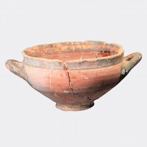 Cypriot Antiquities - Cypriot black-on-red ware pottery bowl