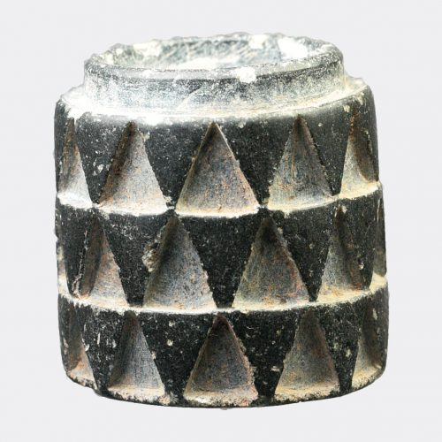 West Asian Antiquities-West Asian conical steatite pyxis vessel